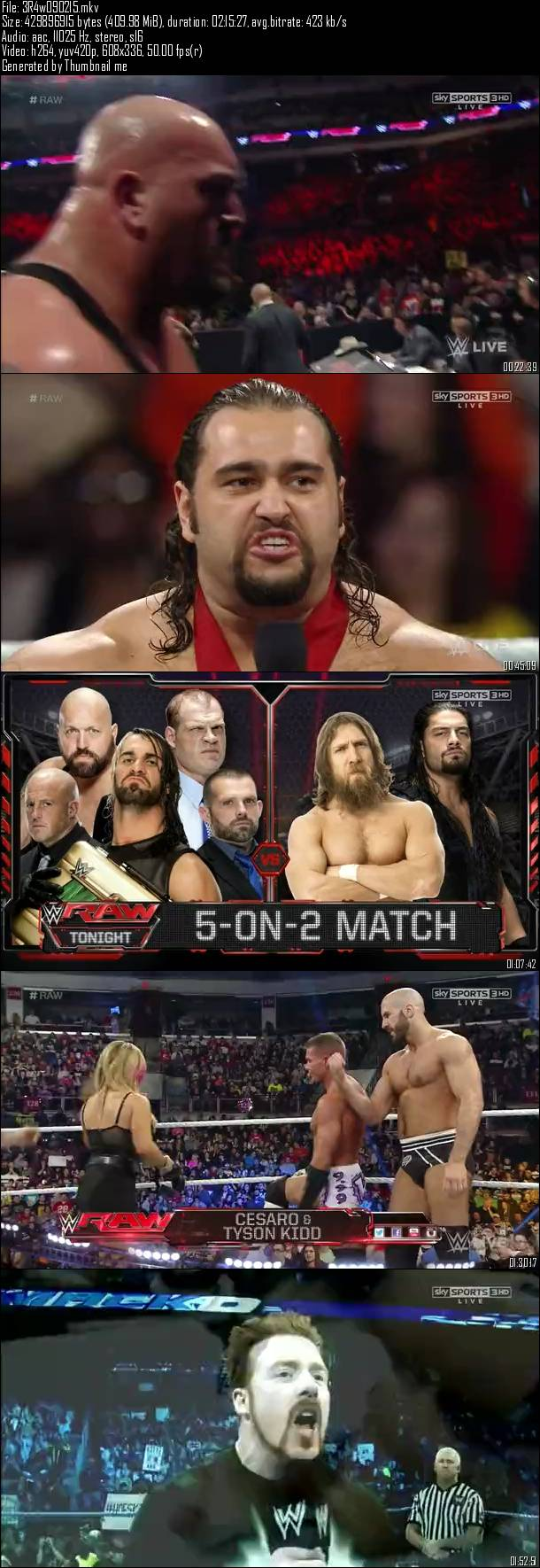 WWE Monday Night Raw 9th February (2015)