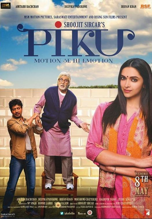 Piku (2015) Hindi Movie 300MB DVDRip 480P