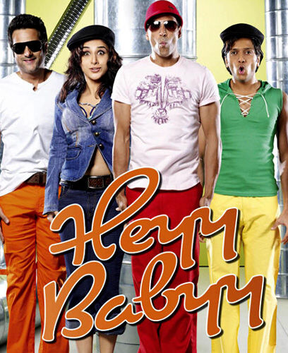 Heyy Babyy (2007) Hindi Movie 480P 400MB