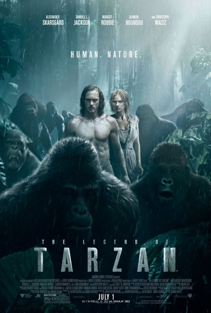 The Legend of Tarzan (2016) Dual Audio DVDRIP 480p