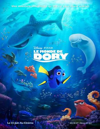 Finding Dory 2016 ORG Dual Audio 100MB BRRip 480p HEVC