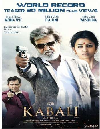 Kabali 2016 Hindi Dubbed HDRip 720p
