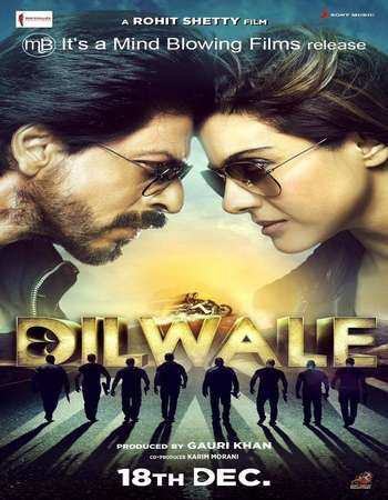 Dilwale 2015 Hindi Movie 600MB BRRip 720p HEVC